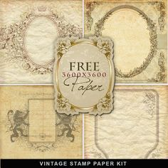 Far Far Hill - Free database of digital illustrations and papers: Freebies Freebies Vintage Stamp Paper