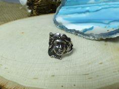 Antique Art Nouveau Cast Sterling Silver Ring; Figural Woman Form; Size 5.75! #Unbranded #NA