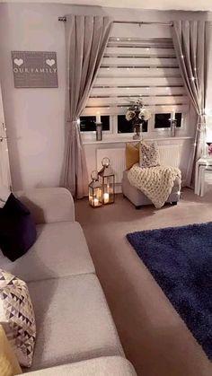 Glam Living Room, Decor Home Living Room, Small Living Rooms, Living Room Modern, Living Room Designs, Room Design Bedroom, Home Room Design, Cozy Room, Home Deco