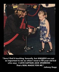 Real magic -- Johnny Depp. this little girl is adorable!!! and i'm extremely jealous of her o.o