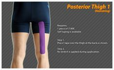 Posterior Thigh #Ares #Tape #Kinesiology #Taping
