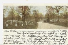 1907 NATIONAL CEMETERY CHATTANOOGA TN UDB Postcard