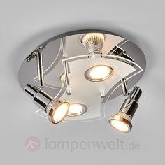 Runde LED-Deckenlampe Marty, vierflammig sicher & bequem online bestellen bei Lampenwelt.de.