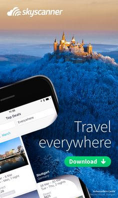 Looking for some inspiration for your next trip? Just tap 'everywhere' on Skyscanner's award winning app and see the best prices to anywhere in the world in seconds. Then go where the fancy takes you. Our all in one travel app lets you instantly search, compare and book cheap flights, hotels and car hire anytime, anywhere. Get inspired. Get the power of the world's travel search engine working for you. Try it today!