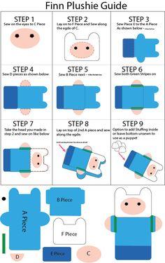 Mini Finn Adventure Time free plush pattern!
