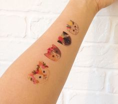Cat temporary tattoos by PaperPlants on Etsy https://www.etsy.com/listing/245069126/cat-tattoos