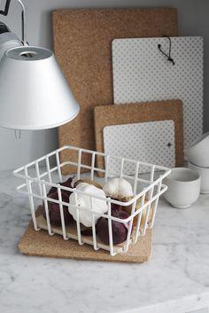 korit3-800 Metal Baskets, Plastic Laundry Basket, Organization, Storage, Interior, Kitchen, Finland, Cork, Design