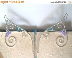 On Sale Silver Plated Handmade Wire Wrapped Elf Ear by 29Moonbeams