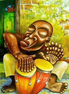 en el solar de la california Óleo Lienzo villate Rasta Art, Reggae Art, African American Artwork, Cuban Art, Art Painting Gallery, Jazz Art, Caribbean Art, Black Art Pictures, Black Love Art