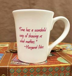 """""""Time has a wonderful way of showing us what matters."""" ~ Margaret Peters"""