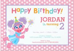 Cute Abby Cadabby personalized invitation for your child's birthday party.  There are many other unique invites featured on this page.