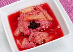 Spiced Rhubarb Compote -Ginger and star anise add an exotic touch to this quick compote.
