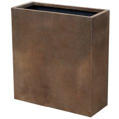 Gatlin Concrete Planter Box Williston Forge Size: H x W x D, Colour: Neo Coffee Wood Barrel Planters, Concrete Planter Boxes, Raised Planter Boxes, Rattan Planters, Concrete Plant Pots, Trough Planters, Plastic Planter Boxes, Plastic Plant Pots, Fiberglass Planters
