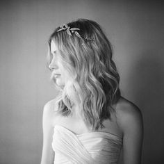 "Crystal Leaf Headpiece: ""Downton Abby"" headpiece: Paris by Debra Moreland"