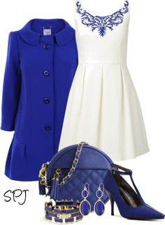 """Pretty in Blue"" by s-p-j on Polyvore"