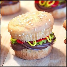 Cupcake burgers. :) Perfect for football parties!