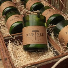 great idea!!! turn wine bottles into candles...I have a couple of these and they smell phenomenal btw! A little pricey but well worth it!