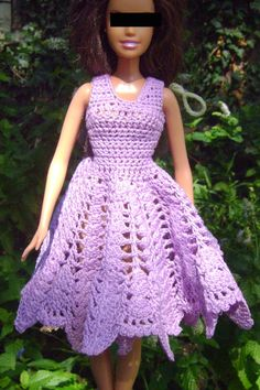 barbie lilac dress barred