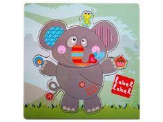 LABEL LABEL Puzzle drewniane Słoń