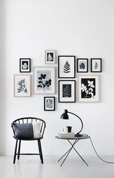 wall decor gallery art / decorar con fotos y cuadros Inspiration Wand, Layout Inspiration, Interior Inspiration, Interior Ideas, Home And Deco, Frames On Wall, Frames Decor, White Frames, Home And Living