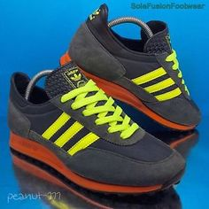 adidas-Originals-Mens-TRX-Running-Trainers-Black-Orange-sz-7-LTD-40-2-3-US-7-5