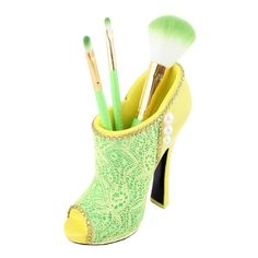 "Cosmopolitan Boot Brush Holder 5""""""""X5.1""""""""X2"""""""" Yellow"