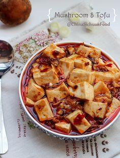 mushroom mapo tofu ChinaSichuanFood http://www.chinasichuanfood.com/vegetarian-mapo-tofu/