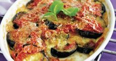 Μελιτζάνες με τυριά στο φούρνο Eggplant, Vegetable Pizza, Quiche, Vegetables, Breakfast, Food, Morning Coffee, Essen, Eggplants