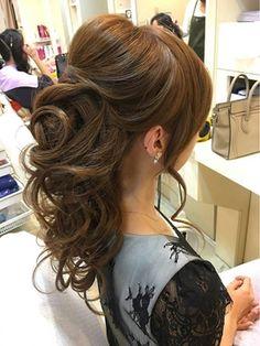 【結婚式】上品でルーズなゆるめハーフアップ《ichiko》 - 24時間いつでもWEB予約OK!ヘアスタイル10万点以上掲載!お気に入りの髪型、人気のヘアスタイルを探すならKirei Style[キレイスタイル]で。