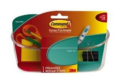 Command Small Organizer by Command. $9.99. Amazon.com                  3M Adhesive Technology Command products offer simple, damage-free hanging solutions for many projects in your home and office. Simplify decorating, organizing, and celebrating with an array of general and decorative hooks, picture and frame hangers, organization products, and more. Thanks to the innovative Command adhesive strips, you can mount and remount your Command products without damaging your walls--...