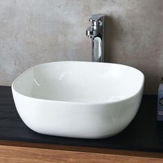 Sometimes simple is best, and a countertop basin is a great example of that. Shop round, square, oval and rectangular countertop basins in a varieties of sizes at Drench. Wall Mounted Basins, Wall Mounted Vanity, Countertop Basin, Bathroom Countertops, Small Kitchen Sink, Small Bathroom, Master Bathroom, Wooden Toilet Seats, Semi Recessed Basin