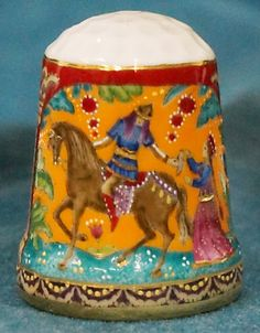 Porcelain thimble collection-Dragon orange the authors hand painting / May 19, 2015 / US $47.00