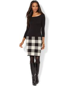 Lauren Ralph Lauren Plaid Sweater Dress