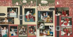I was inspired today by the Cherish layout book and Yuletide Carol patterned paper from CTMH to add this layout to my Christmas theme album.