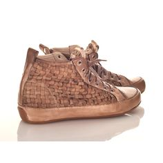 Candice Cooper bronze high-top trainers - £176    http://www.stanwells.com/by-designer/candice-cooper/candice-cooper-bronze-macrame-high-top-sneaker