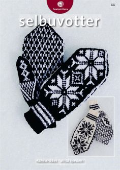 Beautiful mittens and apparently a free pattern for the brave!