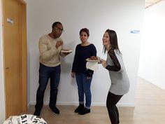 Nuestro equipo preparando la despedida de nuestra alumna ;-)