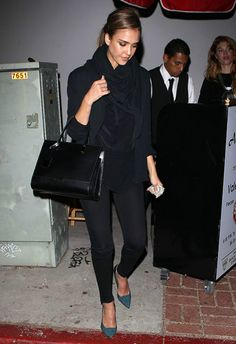 Jessica Alba wearing Sam Edelman Desiree pumps Acabar restaurant in Hollywood September 17 2013
