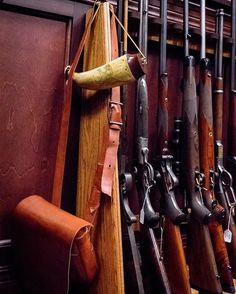 This is one of the many interesting views, when sitting on the couch in my office. Each of these rifles hold a special memory for me, though I must admit not having yet found the time to take some of them hunting. Please note the scrimshawed powder horn hanging on the side.  #LarrysOffice #myoffice #myworkspace #workspace #gun #guns #rifle #shooting #hunting #powderhorn #gunrack