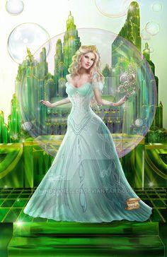 Glinda (Drawing by MindyWheeler @deviantART) #TheWizardOfOz
