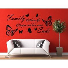 Full Color DIY Home Family Letter Quote Removable Vinyl Decal Art Mural Home Decor Sticker Decal size 22x35