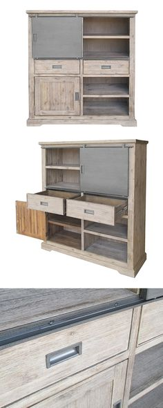 The gal or guy who has it all needs a similarly endowed storage unit. Home entertainment aficionados and avid book collectors, meet the smartly crafted Knox Shelf. This gray-washed acacia wood piece co...  Find the Knox Shelf - Large, as seen in the The Brewery Collection at http://dotandbo.com/collections/the-brewery?utm_source=pinterest&utm_medium=organic&db_sku=116102