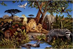 African Animals - Mural ideas (diy)