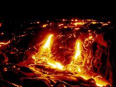 El volcán Kilauea es uno de los más activos de la Tierra y sin duda el más activo de los cinco volcanes que conforman la isla de Hawái.