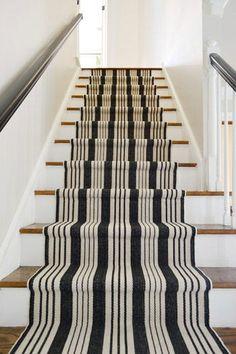 Striped Runner on Stairway