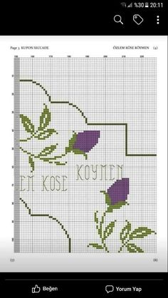 Bead Weaving, Cross Stitch, Embroidery, Sewing, Pattern, Crochet Ideas, Embroidery Ideas, Cross Stitch Embroidery, Cross Stitch Flowers