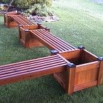 bench with planter box planter bench 3