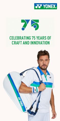 Yonex Tennis 75th Anniversary Celebrating 75 years of Craft and Innovation Yonex has been making world-class rackets since 1957 and now offers string, bags, apparel and shoes. Shop our curated collection of Yonex gear. #yonex #yonextennis #yonex75 #anniversary #tennis #atp #wta Yonex Tennis, Tennis Bags, Rackets, Innovation, Anniversary, The Unit, Craft, Celebrities, Shop