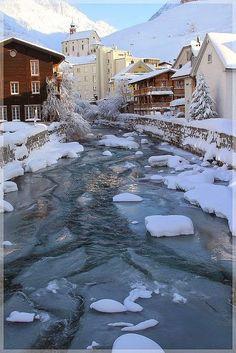 Winter morning - Andermatt, Switzerland (photo via thingssheloves)