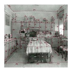 "480 Likes, 4 Comments - A Series of Rooms (@aseriesofrooms) on Instagram: ""Lara Agosti . A kitchen, measured . A Series of Rooms is a collection of domestic spaces - an…"""